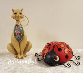 Mini Figurines - Set van 2 - Cat  & Ladybug  Jim Shore