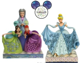 CINDERELLA Transformation , Lady Tremaine, Anastasia & Drizella - Set van 2 Jim Shore beelden