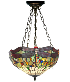 5850 SU3 Hanglamp Tiffany Ø40cm Dragonfly Multicolor