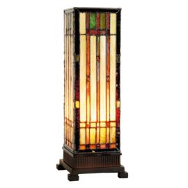 9917 Tiffany lamp H35cm Miniwindlicht Frank Lloyd Wright ontwerp