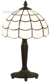 5936 Tafellamp Zwart H36cm met Tiffany kap  Ø25cm Art Deco Paris