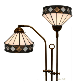 5197 Vloerlamp met 2 Tiffany kappen Ø19cm Fargo