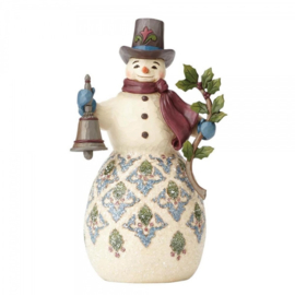Bright & Merry  H20,5cm Jim Shore Victorian snowman sneeuwpop