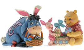 Eeyore , WInnie The Pooh & Piglet Easter Set van 2 Jim Shore figurines