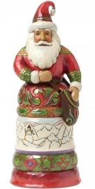 """Kindly Kris Kringle"" H24cm Jim Shore Santa KERSTMAN 4042964 uit 2014"