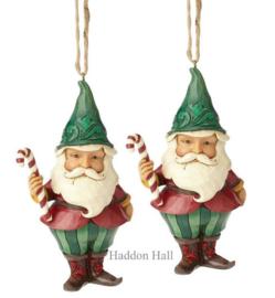 Wonderland Gnome H13cm Set van 2 Jim Shore Hanging Ornament  4058749