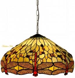 1102 Hanglamp Tiffany Ø48cm Beige Dragonfly