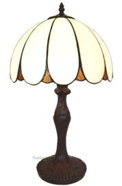 6147 Tafellamp H48cm met Tiffany kap Ø31cm Dome