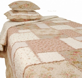 Q064 Clayre & Eef Bedsprei 300 x 260 cm Quilt Patchwork