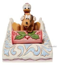 Donald & Pluto Sledding H11,5cm - Jim Shore 6008973