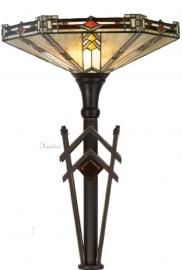 5420 5763 Vloerlamp H170cm met Tiffany kap Ø40cm Durban