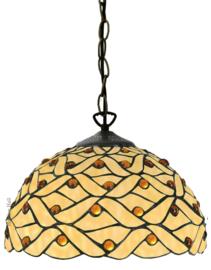 5181 Hanglamp Tiffany Ø30cm Woven Pearl