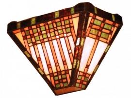 9141 Wandlamp Tiffany B30cm Schelpmodel