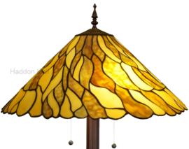 7878 Vloerlamp Bruin met Tiffany kap Ø50cm Jade