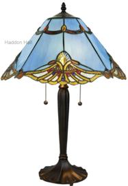 161072 Tafellamp Tiffany H60cm Ø40cm Modry