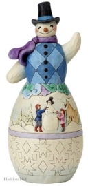 """Snowman Winter Scene Statue"" H 48cm! Jim Shore 6001523"