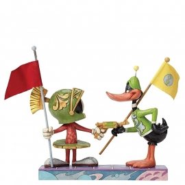 DAFFY DUCK & MARVIN  I Claim This Planet  H17cm Jim Shore 4049388