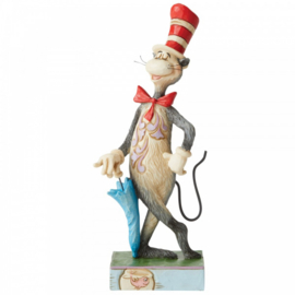 The Cat in the Hat with Umbrella Figurine H16,5cm Dr. Seuss by Jim Shore 6006239
