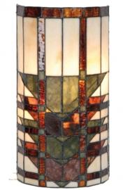 1123 Wandlamp Tiffany H35cm B17cm  Cilinder model
