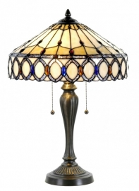 5497 Tafellamp Tiffany H58cm Ø40cm Kendal