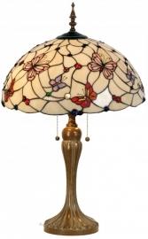 5382 Tafellamp Tiffany H72cm Ø50cm  Pink Butterfly