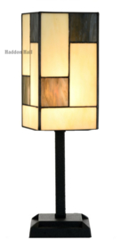 8131 Tafellamp Tiffany H41cm 12,5x12cm Mondriaan