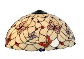 5382 Kap Tiffany Ø50cm Pink Butterfly