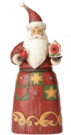 """Folklore Santa with Bird House"" H 25,5 cm Jim Shore 4058763"