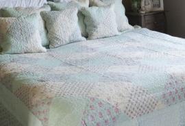 Q133 Clayre & Eef Bedsprei 180 x 260 cm Quilt Patchwork-style