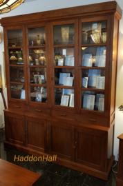 Vitrinekast Boekenkast  H245cm B207cm Massief Teakhout
