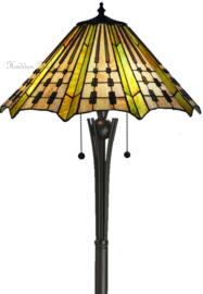 7858 Vloerlamp H158cm met Tiffany Ø50cm Plissé