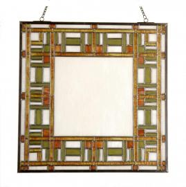 54780 Voorzetraam Glas-in-lood  50 x 50 cm Art Deco motief