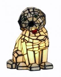 """797 Tiffany lamp H24cm """"Hond"""""""