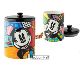 Mickey H24cm & Minnie H18cm Cookie Jar Set Disney by Britto