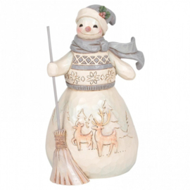 Winter Days Are Joyful Days H14,5cm White Woodland Snowman Jim Shore 6006583