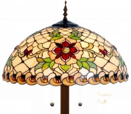 9931 9454 Vloerlamp Tiffany  Ø50cm Santana Ronde voet