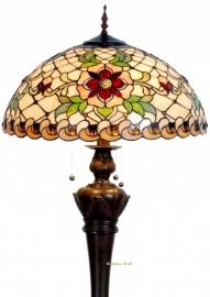 9931 9459 Vloerlamp Tiffany  Ø50cm Santana Bolling in de voet