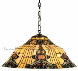 5551 97 Hanglamp Tiffany Ø45cm Blue-Oyster