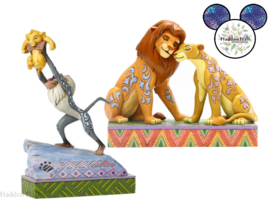 Lion King - Simba -Nala & Rafiki & Simba - Set van 2 Jim Shore beelden