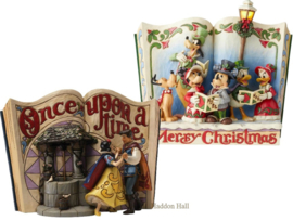 "Set van 2 Storybooks  ""Snow White"" & ""Christmas Carol"" Jim Shore  Sneeuwwitje"
