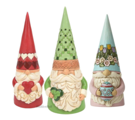 Gnomes Set van 3 - Heart Irish Easter H19cm Jim Shore