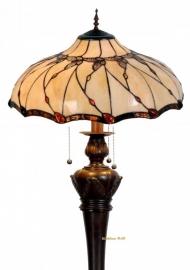 5345 9459 Vloerlamp Tiffany Ø50cm Black Butterfly  Bolling in de voet