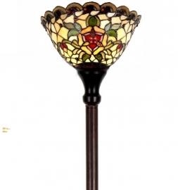 9114 Vloerlamp H175cm met Tiffany kap Ø26cm