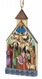 Nativity Church H13,5cm Hanging Ornament Jim Shore 4041465