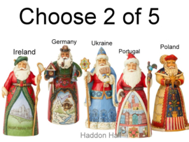 Set van 2 Jim Shore Landen Santa's H18cm Choose 2 of 5