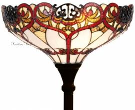 5583 Vloerlamp Tiffany H180cm Ø40cmRed Ribbon Uplicht