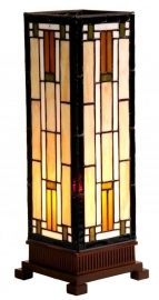 9332 Tiffany lamp H35cm Mini-windlicht Rising Sun