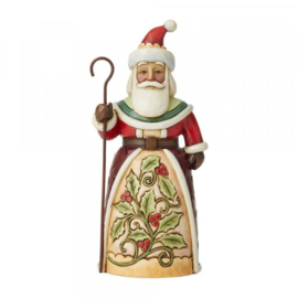 Santa with Holly Pint Sized H13,5cm Jim Shore 6009003