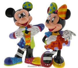 Mickey & Minnie Mouse Anniversary H26cm Set van 2 Britto beelden