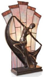 NPA18680 Tafellamp Tiffany H48cm Art Deco Dame
